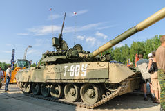 Modernized tank T-80U. Russia Royalty Free Stock Images