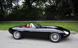 A modernized version of the Jaguar E-Type Stock Images