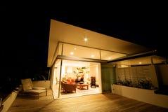 Moderno, casa del progettista Immagine Stock