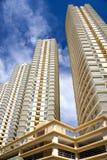 Moderno Ciao-Si ergono gli appartamenti Immagini Stock