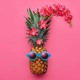 Moderno da forma do abacaxi Humor tropical do verão foto de stock