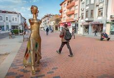 ` Moderno della scultura il ` della passeggiata, Varna, Bulgaria Fotografia Stock