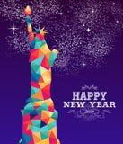 Moderno 2019 do triângulo da cor de América do ano novo feliz ilustração royalty free