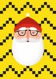 Moderno farpado Santa Claus ilustração do vetor