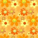 Moderno feliz Daisy Flowers retro ilustração royalty free