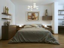 moderno interno della camera da letto Fotografia Stock Libera da Diritti