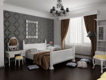 moderno interno della camera da letto Immagine Stock Libera da Diritti
