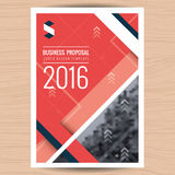 Moderno limpie la cubierta para la oferta del negocio, informe anual, folleto, aviador, prospecto, presentación corporativa, cubi Fotografía de archivo libre de regalías