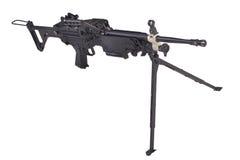 Moderno mitragliatrice dell'esercito americano Immagine Stock Libera da Diritti