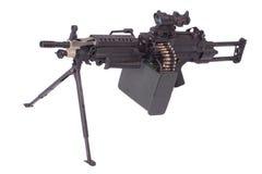 Moderno mitragliatrice dell'esercito americano Immagini Stock Libere da Diritti