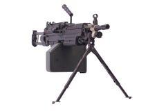 Moderno mitragliatrice dell'esercito americano Fotografie Stock Libere da Diritti