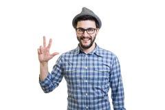Moderno no chapéu Imagens de Stock