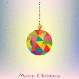 Moderno s geométrico da bola da decoração da árvore de Natal Fotos de Stock