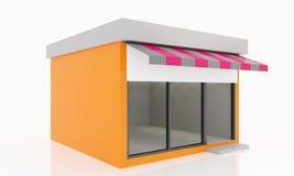 Moderno vacie la tienda Imágenes de archivo libres de regalías