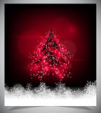 Modernt abstrakt julträd, eps 10 Royaltyfria Bilder