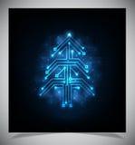 Modernt abstrakt julträd, eps 10 Arkivbild