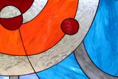 Modernt abstrakt målat glassfönster Royaltyfria Foton