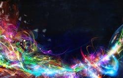 Modernt abstrakt rörelsebaner på mörk bakgrund Royaltyfri Fotografi