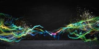 Modernt abstrakt rörelsebaner Arkivfoto