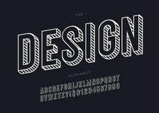 Modernt alfabet 3d för vektordesign för garnering vektor illustrationer