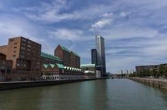 Modernt arkitekturcentrum i 'den Kop skåpbil Zuid 'neighbourhooden i Rotterdam, Nederländerna arkivfoto