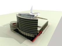 modernt arkitekturhus Arkivfoton