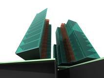 modernt arkitekturhus Arkivbilder