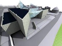modernt arkitekturhus Royaltyfri Fotografi