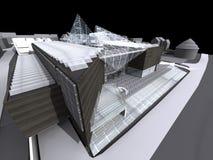 modernt arkitekturhus Royaltyfria Bilder