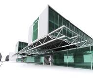 modernt arkitekturhus Arkivfoto
