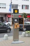 Modernt bås för offentlig telefon Royaltyfri Foto