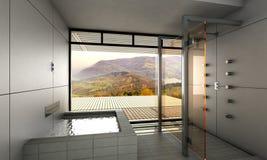 Modernt badrum Arkivbilder