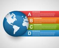 Modernt baner för alternativ för affärsdiagram och grafför infographics eller presentationer Arkivfoton