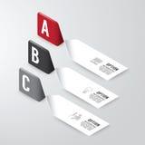Modernt baner för infographicsdesignalternativ också vektor för coreldrawillustration Royaltyfri Foto