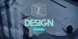modernt begrepp för tredimensionell futuristisk skärm 3D Royaltyfri Fotografi