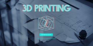 modernt begrepp för tredimensionell futuristisk skärm 3D Royaltyfri Foto