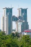 modernt bostads för byggnader Fotografering för Bildbyråer