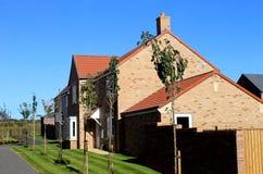 Modernt bostadsområde i England Royaltyfria Bilder