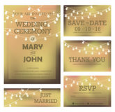Modernt bröllopinbjudankort Arkivbilder