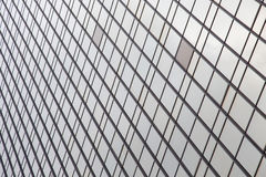 Modernt byggande för fönsterexponeringsglas Royaltyfri Fotografi