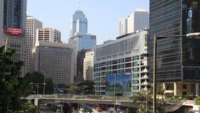 Modernt byggnadslandskap i Hong Kong arkivfilmer