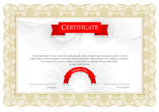 Modernt certifikat Malldiplom, valuta vektor Royaltyfri Foto