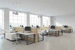 Modernt coworking kontor arkivbild