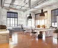 Modernt coworking kontor Fotografering för Bildbyråer