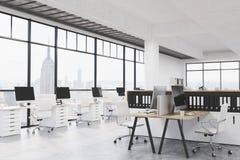 Modernt coworking kontor royaltyfri illustrationer
