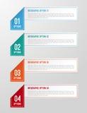 Modernt 3D vikt pappers- infographicsalternativbaner Royaltyfri Bild