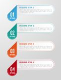 Modernt 3D vikt pappers- infographicsalternativbaner Arkivfoto