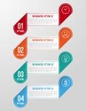 Modernt 3D vikt pappers- infographicsalternativbaner Royaltyfria Foton