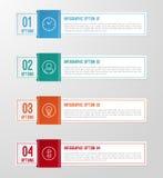 Modernt 3D vikt pappers- infographicsalternativbaner Arkivbild
