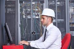Modernt datacenterserverrum Royaltyfri Foto